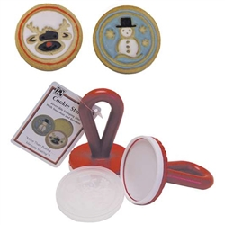 Cookie Stamper with Snowman and Reindeer Christmas Designs