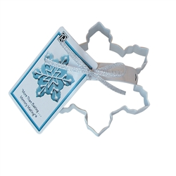 "Snowflake 4"" Polyresin Coated Cookie Cutter White with Handle"