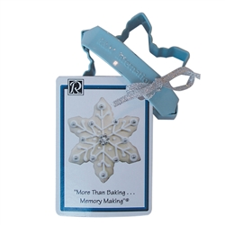 "Snowflake 3"" Polyresin Coated Cookie Cutter Blue with Handle"
