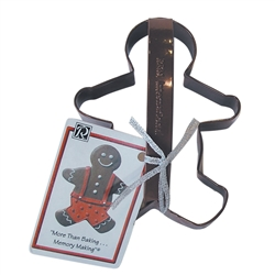 "Gingerbread Boy 5"" Polyresin Coated Cookie Cutter Brown with Handle"