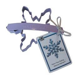 "Wide Snowflake 5"" Polyresin Coated Cookie Cutter Lavender with Handle"