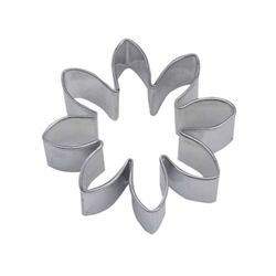 "Flower 3"" Tinplated Steel Cookie Cutter"