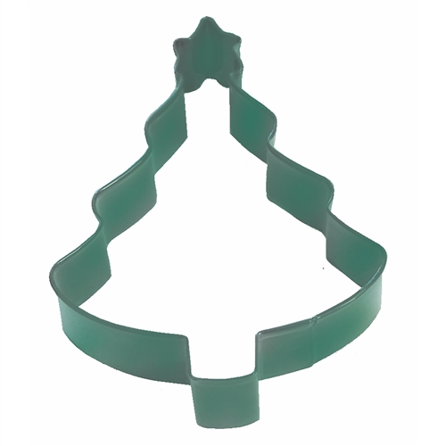 "Tree With Star 4"" Polyresin Coated Cookie Cutter Green"
