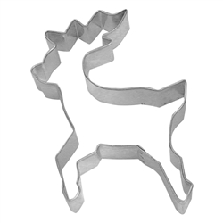 "Reindeer 5"" Tinplated Steel Cookie Cutter"