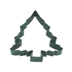 "Christmas Tree 5"" Polyresin Coated Cookie Cutter Green"