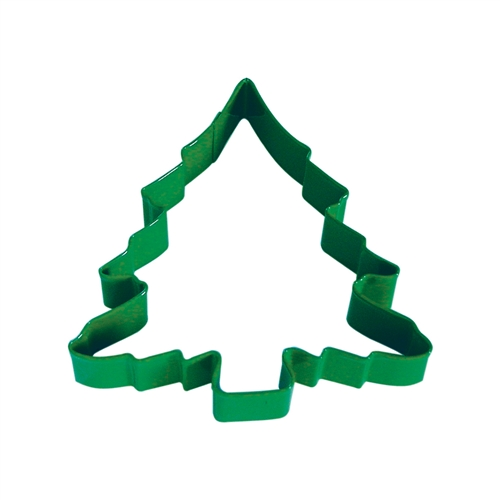 "Christmas Tree 5"" Polyresin Coated Cookie Cutter Bright Green"