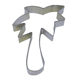 "Palm Tree 5"" Tinplated Steel Cookie Cutter"