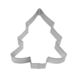 "Snow Covered Tree 5"" Tinplated Steel Cookie Cutter"