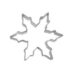 "Narrow Snowflake 5"" Tinplated Steel Cookie Cutter"