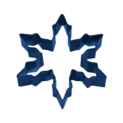 "Snowflake Narrow 5"" Polyresin Coated Cookie Cutter Navy Blue"