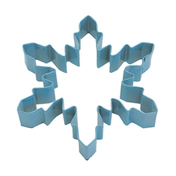 "Snowflake Wide 5"" Polyresin Coated Cookie Cutter Blue"