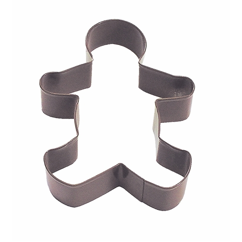 "Gingerbread Boy 5"" Polyresin Coated Cookie Cutter Brown"