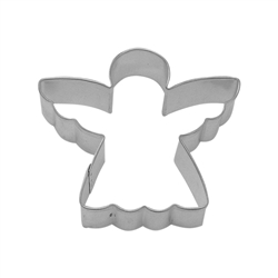"Angel 5"" Tinplated Steel Cookie Cutter"