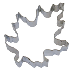 "Oak Leaf 5"" Tinplated Steel Cookie Cutter"