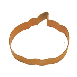 "Pumpkin 5"" Polyresin Coated Cookie Cutter Orange"