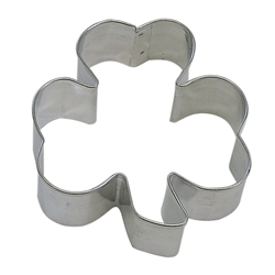 "Shamrock 5.5"" Tinplated Steel Cookie Cutter"
