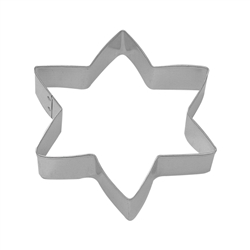 "Star Six Point 5"" Tinplated Steel Cookie Cutter"