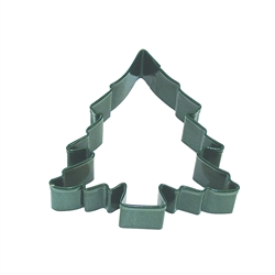 "Christmas Tree 3.5"" Polyresin Coated Cookie Cutter Green"