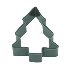 "Snow Covered Tree 3.5"" Polyresin Coated Cookie Cutter Green"