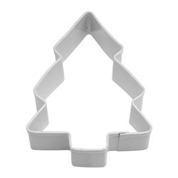 "Snow Covered Tree 3.5"" Polyresin Coated Cookie Cutter White"