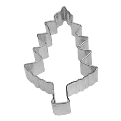 "Tree 4"" Tinplated Steel Cookie Cutter"