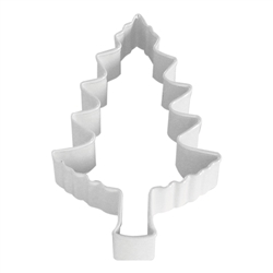 "Tree 4"" Polyresin Coated Cookie Cutter White"