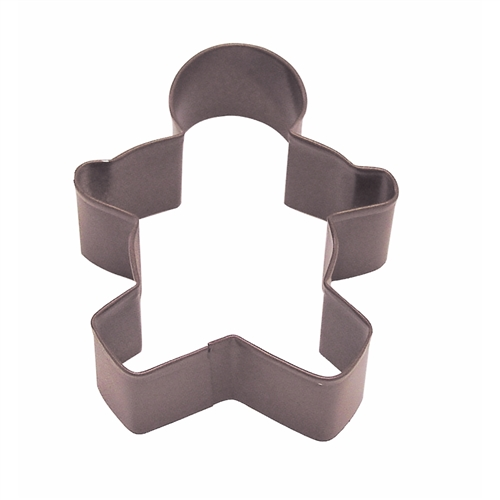 "Gingerbread Boy 3.5"" Polyresin Coated Cookie Cutter Brown"