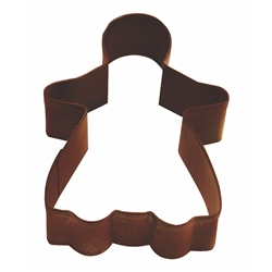"Gingerbread Girl 3.75"" Polyresin Coated Cookie Cutter Brown"