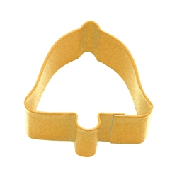 "Bell 2.5"" Polyresin Coated Cookie Cutter Yellow"