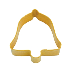 "Bell 3.5"" Polyresin Coated Cookie Cutter Yellow"