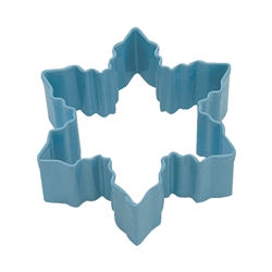"Snowflake 3"" Polyresin Coated Cookie Cutter Blue"