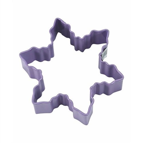 "Snowflake 3"" Polyresin Coated Cookie Cutter Lavender"