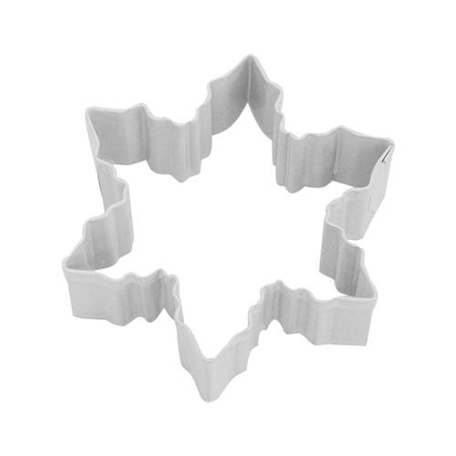 "Snowflake 3"" Polyresin Coated Cookie Cutter White"