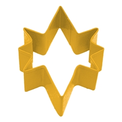 "Bethlehem Star 3.5"" Polyresin Coated Cookie Cutter Yellow"