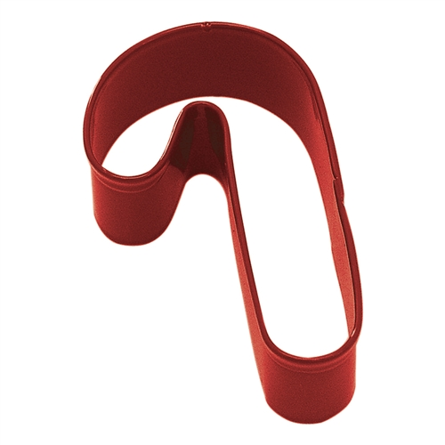 "Candy Cane 3.5"" Polyresin Coated Cookie Cutter Red"