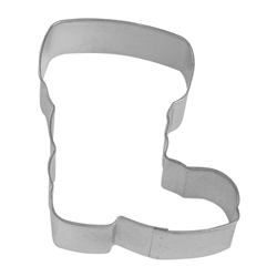 "Santa Boot 4"" Tinplated Steel Cookie Cutter"