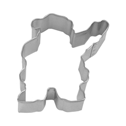 "Waving Santa 4"" Tinplated Steel Cookie Cutter"