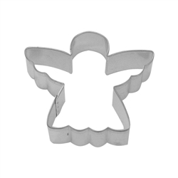 "Angel 3"" Tinplated Steel Cookie Cutter"