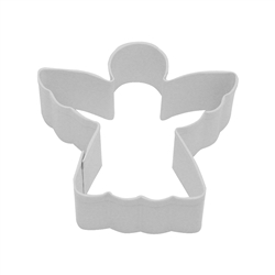"Angel 3"" Polyresin Coated Cookie Cutter White"