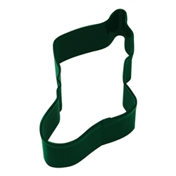"Stocking 4.5"" Polyresin Coated Cookie Cutter Green"