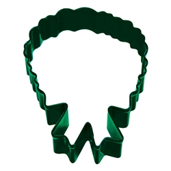 "Christmas Wreath 4"" Polyresin Coated Cookie Cutter Green"