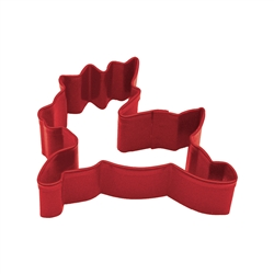 "Reindeer 3"" Polyresin Coated Cookie Cutter Red"
