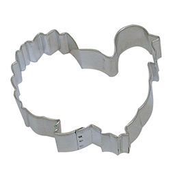 "Gobbler Turkey 3.75"" Tinplated Steel Cookie Cutter"