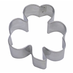 "Shamrock 3"" Tinplated Steel Cookie Cutter"