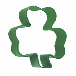 "Shamrock 3"" Polyresin Coated Cookie Cutter Bright Green"