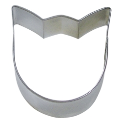 "Tulip Bloom 3.5"" Tinplated Steel Cookie Cutter"