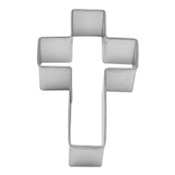 "Cross 2.75"" Tinplated Steel Cookie Cutter"