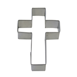 "Cross 4"" Tinplated Steel Cookie Cutter"