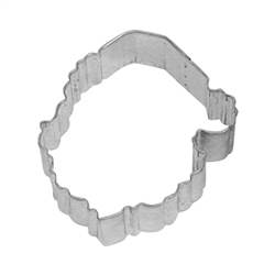 "Santa Face 3.75"" Tinplated Steel Cookie Cutter"