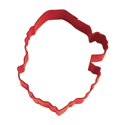 "Santa Face 3.75"" Polyresin Coated Cookie Cutter Red"